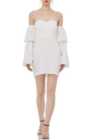OFF  THE  SHOULDER  SOLID MINI  DRESSES  P1812-0332-CW