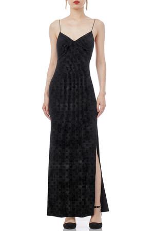 STRAP SLIT SOLID MAXI LENGTH DRESSES P1708-0118