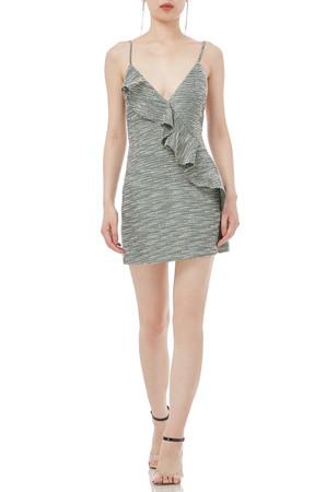 STRAP MINI LENGTH FALBALA DRESSES P1708-0107