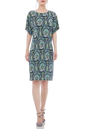 ROUND KNEE LENGTH SHORT SLEEVE DRESSES P1805-0263
