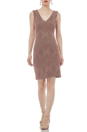 TANK  V-SHAPED CREW ABOVE-THE-KNEE LENGTH DRESSES P1707-0031