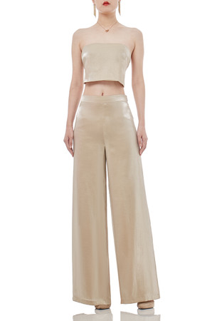 OFF DUTY/WEEK END WIDE LEG PANTS P1707-0093