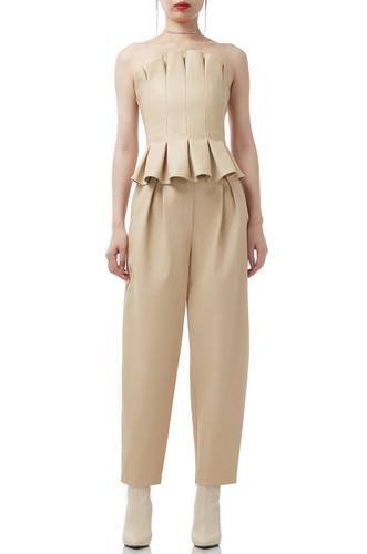 NORMAL WAISTED TAPERED BAGGY PANTS BAN2006-0352