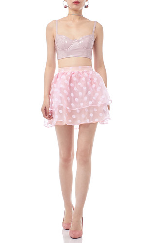 NORMAL WAISTED RUFFLE SKIRT BAN2003-0119