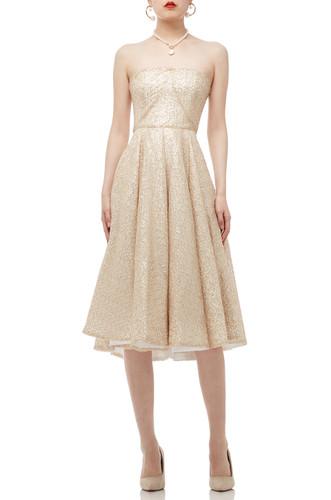 STRAPLESS CICULAR DRESS BAN1906-0530