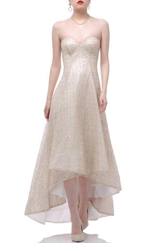 STRAPLESS CICULAR DRESS BAN1907-0071