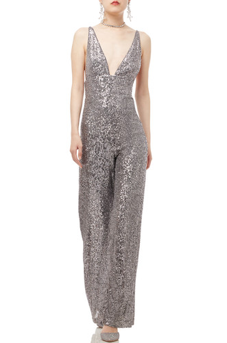DEEP V-NECK WITH WIDE LEG CAMISOLE JUMPSUIT BAN1908-1194
