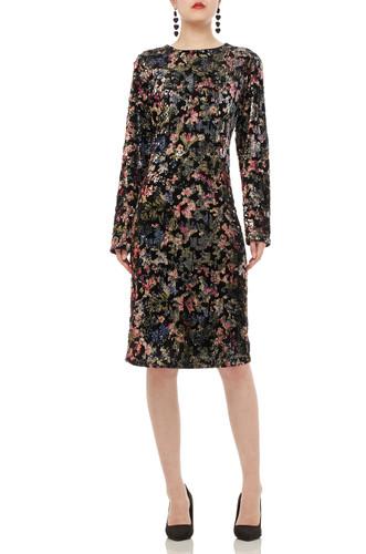 ROUND NECK SEQUINED DRESS BAN1906-0809