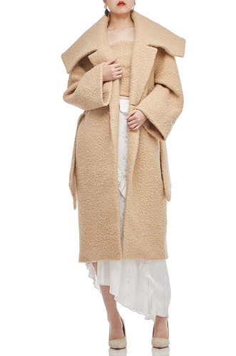 ONE BUTTON BELTED OVERCOAT BAN2006-0385