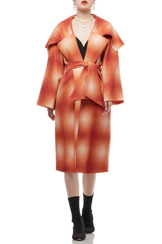 ONE BUTTON AND BELTED OVERCOAT BAN2006-0387