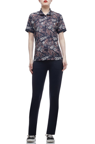 NORMAL WAISTED TAPERED PANTS BAN2007-0009
