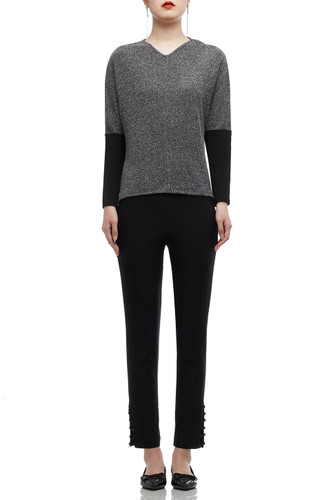 NORMAL WAISTED ANKLE LENGTH PANTS BAN1806-1103