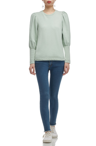 ROUND NECK WITH GIGOT SLEEVE TOP BAN2011-0195