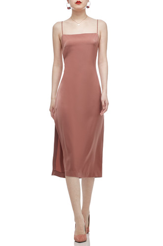 CAMISOLE WITH SLIT ON THE SIDE BELOW THE KNEE DRESS BAN2012-0241