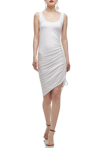 U-NECK WITH DRAWSTRING ON THE SIDE TANK DRESS BAN2012-0037
