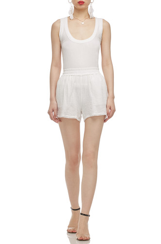 NORMAL WAISTED WITH SLIT ON BOTH SIDE SHORTS BAN2101-0093-W