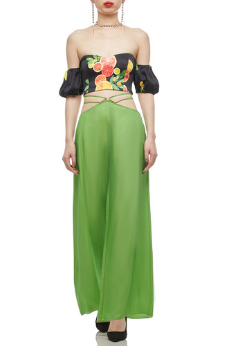NORMAL WAISTED WITH TIE ON THE WAIST PANTS BAN2012-0240
