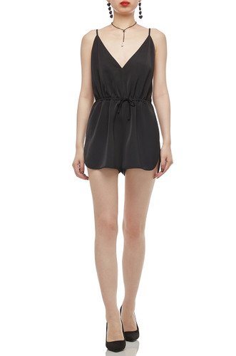 DEEP V-NECK WITH DRAWSTRING ON THE WAIST CAMISOLE ROMPERS BAN2012-0391