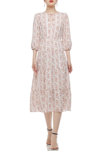 TIE ON THE NECK MID-CALF LENGTH DRESS BAN2101-0201