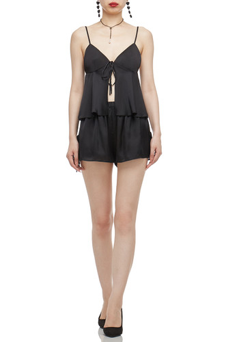 CAMISLOE WITH TIE FRONT CROPPED PAJAMA TOP BAN2012-0461
