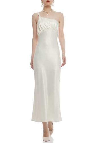 ONE SHOULDER ANKLE LENGTH DRESS BAN2102-0224