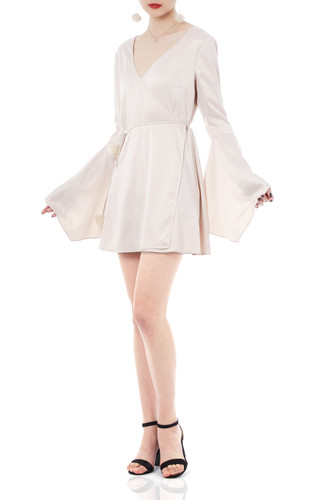 KIMONO SLEEVE V-NECK MINI DRESS P1805-0258