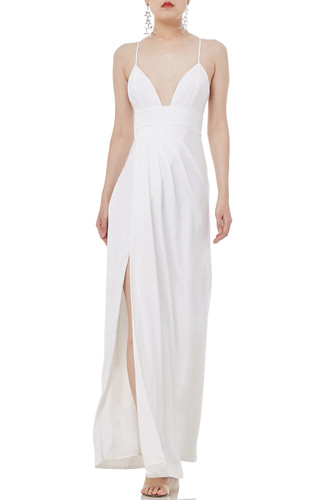 CAMISOLE WITH SLIT ASIDE DRESS P1810-0090-PW