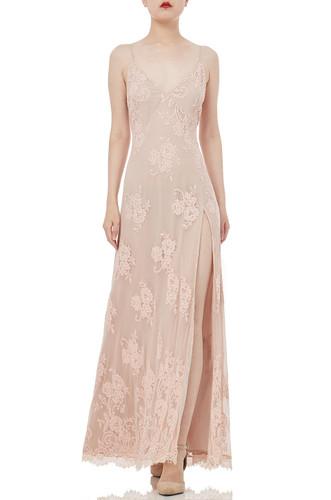STRAP SLIT MAXI LENGTH DRESSES P1904-0102