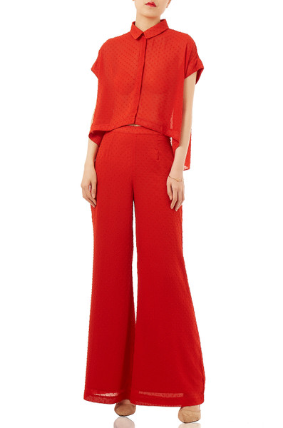 CASUAL WIDE LEG PANTS PS1710-0073