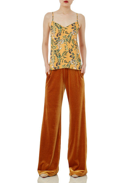 POLYESTER DAYTIME OUT WIDE LEG PANTS TSP1901-0573PB MSRP $128