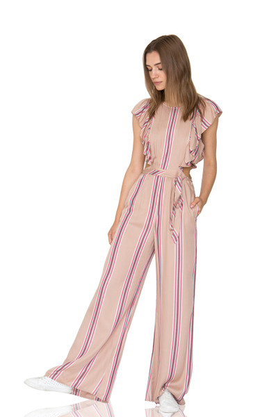 OFF DUTY/WEEK END CULOTTE JUMPSUITS CC1905-0838-RTM RAYON