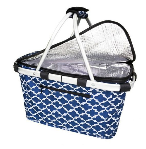 Carry Basket Moroccan Navy Insulated Sachi