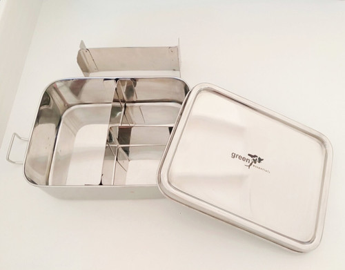 Lunchbox leak proof with dividers stainless steel