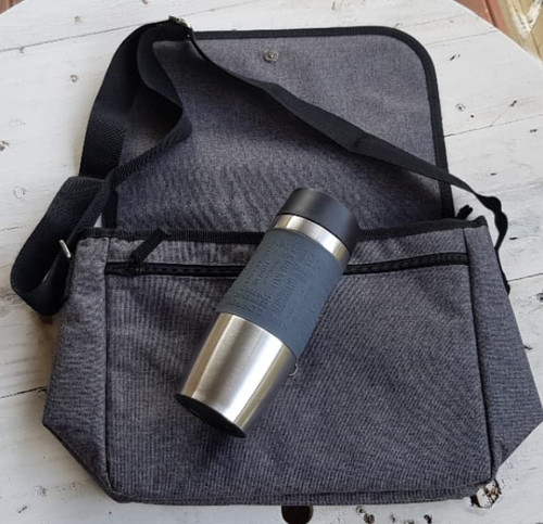Lunch Bag & Travel Mug Gift Pack with Free Beeswax Wrap Twin Pack