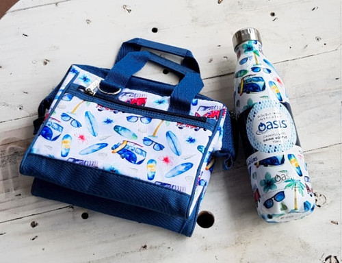 Drink Bottle & insulted lunch bag Gift Pack SV with free beeswax wrap twin pack