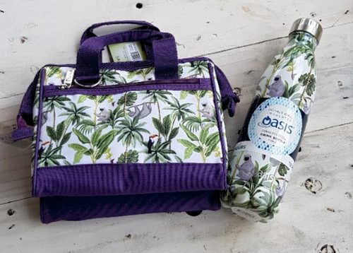 Drink Bottle & insulted lunch bag Gift Pack JF with free beeswax wrap twin pack