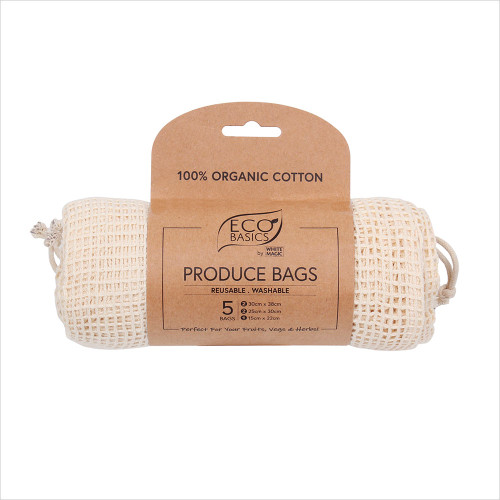 Produce Bags 5 pack cotton organic