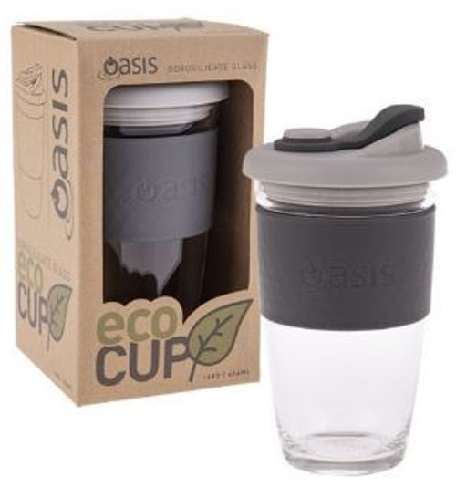 Eco Cup Glass Charcoal 454ml