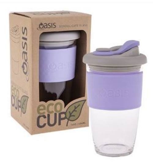 Eco Cup Glass Lilac 454ml
