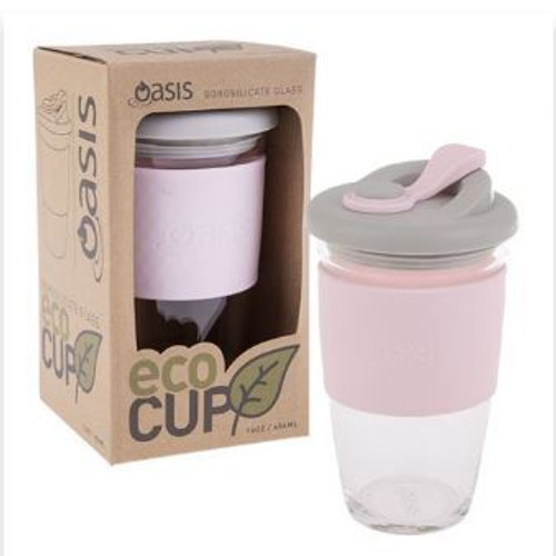 Eco Cup Glass Pink 454ml