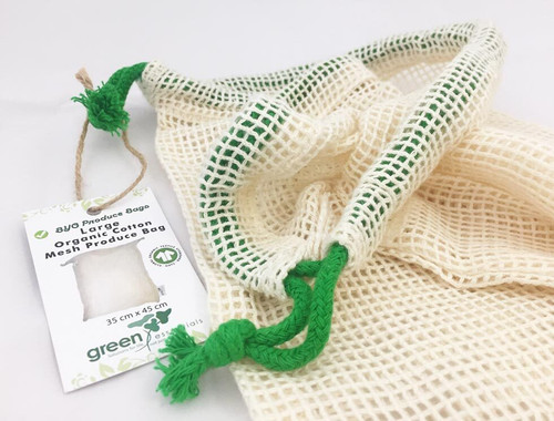 Produce Bag  Large Mesh Single Organic Cotton
