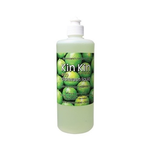 Dishwash Liquid Lime & eucalyptus 550ml Kin Kin