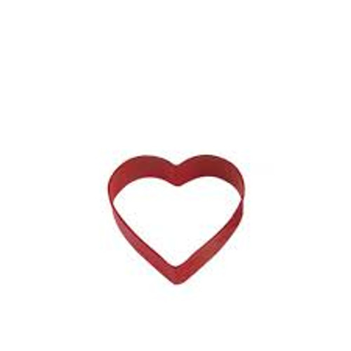 Cookie Cutter Heart 8cm Red