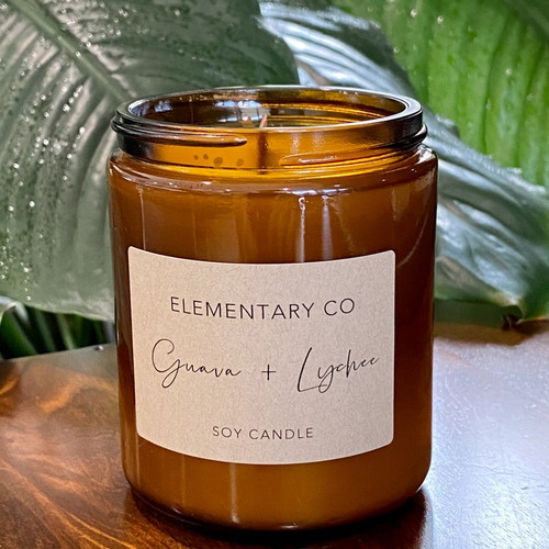 Guava & Lychee Candle Soy 250gm
