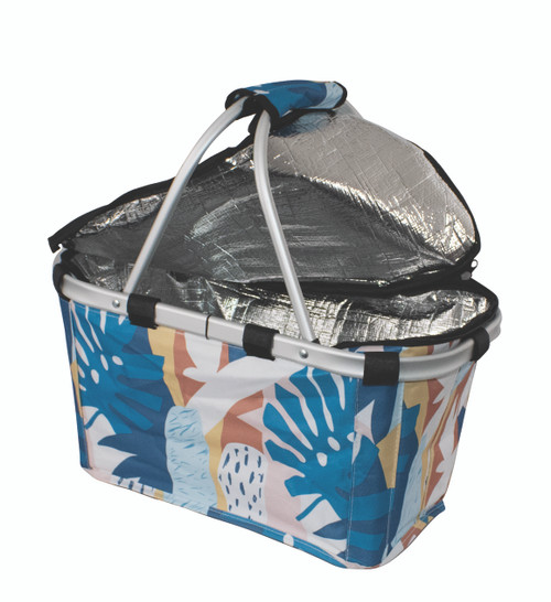 Carry Basket Insulated Abstract with zip lid