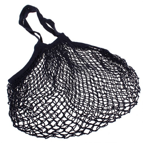 Bag String Black Cotton Long Handle