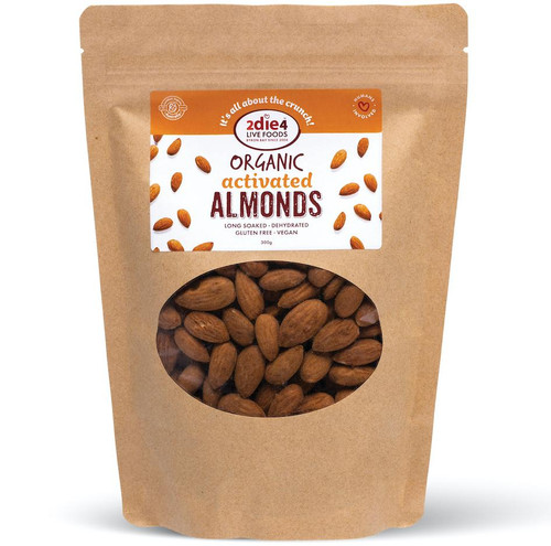 Almonds Organic Activated 2Die4 Live Foods 120gm