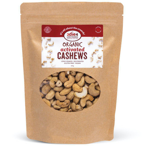 Cashews Organic Activated 2Die4 Live Foods 120gm