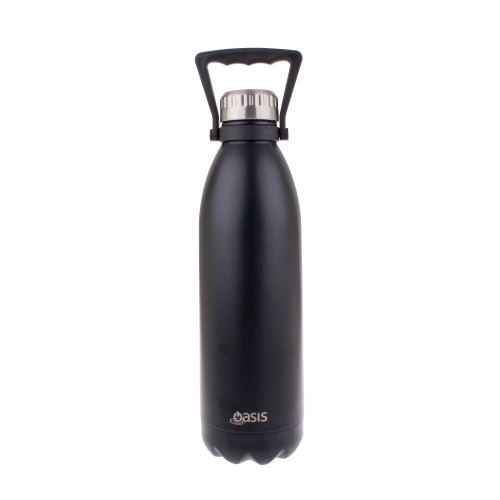Drink Bottle Black 1.5L Oasis