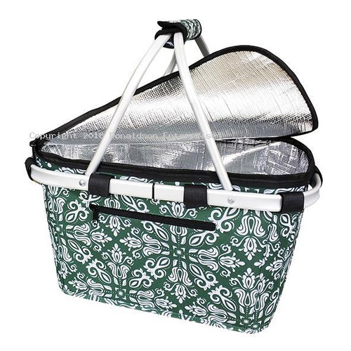 Carry Basket Bohemian Green Insulated Sachi